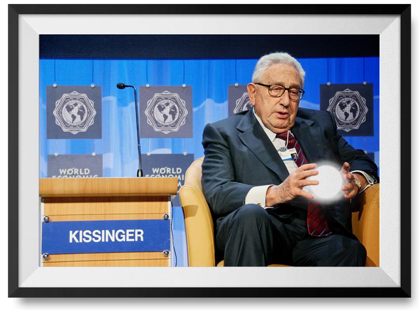 Henry Kissinger prediciendo el futuro de la economía global.