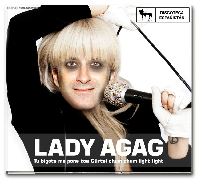 "Lady Agag en ""Tu bigote me pone toa Gürtel chum chum light light"""