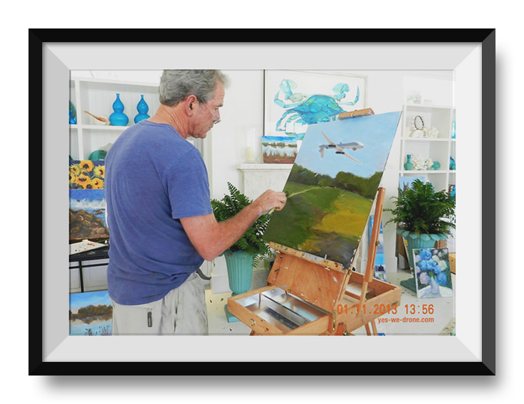 Bush painting drones