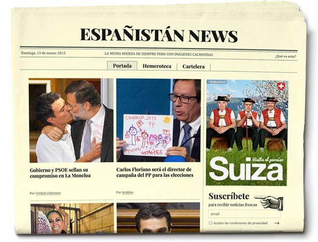 """Españistan News """"La misma mierda de siempre pero con imágenes cachondas"""""""