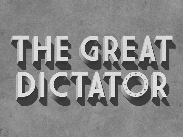 Angela Merkel. The Great Dictator