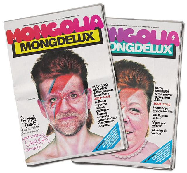 United Unknown Portada para la Revista Mongolia. Rajowie y Rita Stardust
