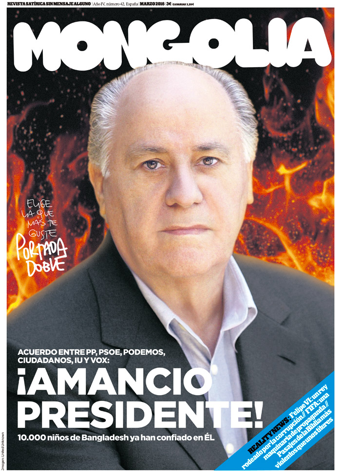 United Unknown Portada para la Revista Mongolia Amancio Ortega
