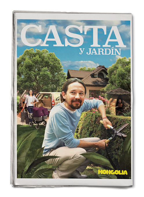nited Unknown Contraportada para la Revista Mongolia. Casta y Jardín